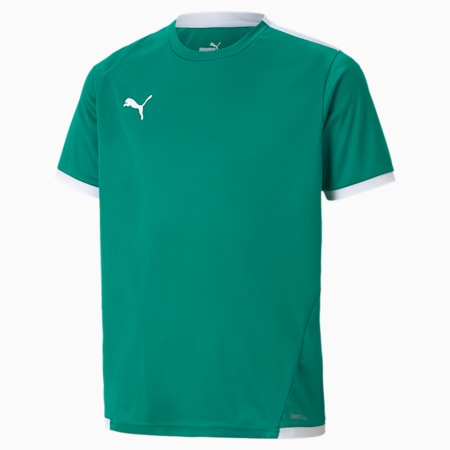 teamLIGA Youth Football Jersey, Pepper Green-Puma White, small