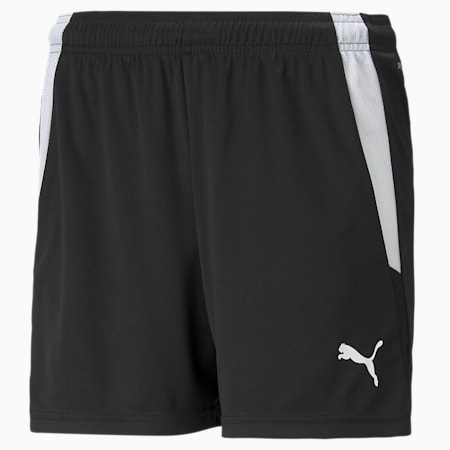 teamLIGA Women's Football Shorts, Puma Black-Puma White, small-GBR