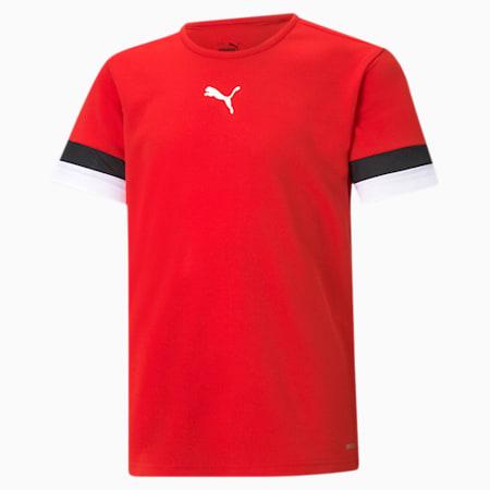 teamRISE Youth Football Jersey, Puma Red-Puma Black-Puma White, small-SEA