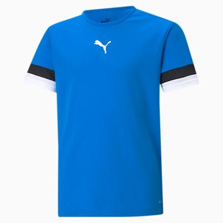 teamRISE Youth Football Jersey, Electric Blue Lemonade-Puma Black-Puma White, small-SEA