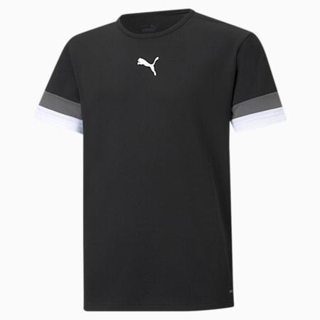 teamRISE Youth Football Jersey, Puma Black-Smoked Pearl-Puma White, small-SEA