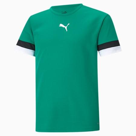 teamRISE Youth Football Jersey, Pepper Green-Puma Black-Puma White, small-SEA