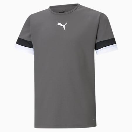 teamRISE Youth Football Jersey, Smoked Pearl-Puma Black-Puma White, small-SEA