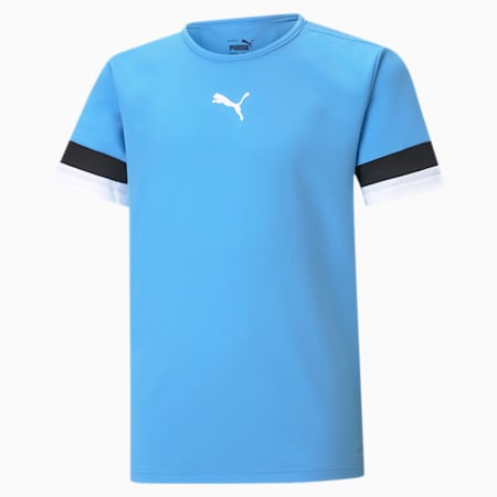 teamRISE Youth Football Jersey, Team Light Blue-Puma Black-Puma White, small-SEA