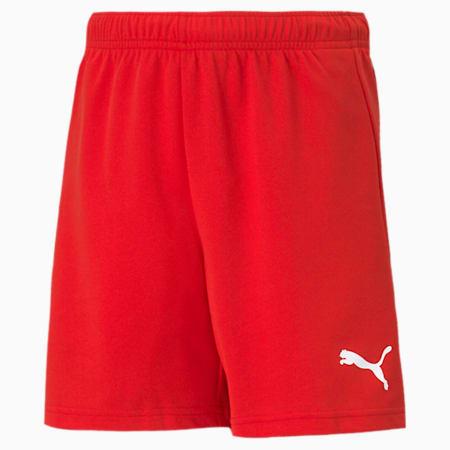 teamRISE Youth Football Shorts, Puma Red-Puma White, small-SEA