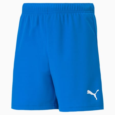 teamRISE Youth Football Shorts, Electric Blue Lemonade-Puma White, small-SEA