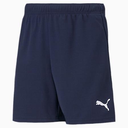 teamRISE Youth Football Shorts, Peacoat-Puma White, small-SEA