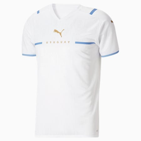 Replica de camiseta de visitante de Uruguay 21 para hombre, Puma White, pequeño