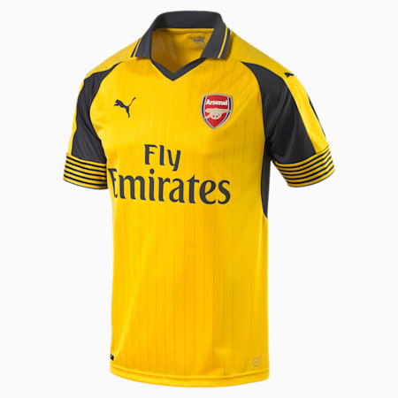 Arsenal FC Away Men's Replica Jersey, spectra yellow-ebony, small-SEA