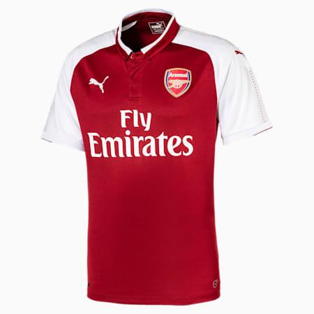 Arsenal FC Home Men's Replica Jersey, Chili Pepper-Puma White, small-SEA