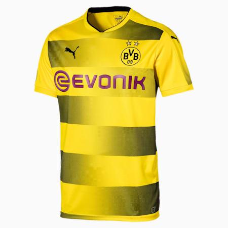 BVB Home Men's Replica Jersey, Cyber Yellow-Puma Black, small-SEA