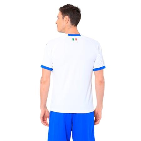 FIGC Away Men's Short Sleeve Replica Shirt, Puma White-Team Power Blue, small-IND