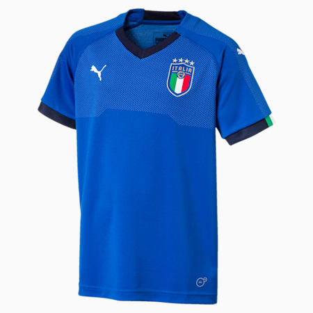 Italia Kids Home Jersey, Team Power Blue-Peacoat, small