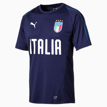 FIGC ITALIA トレーニングジャージー SS, Peacoat-Team power blue, small-JPN