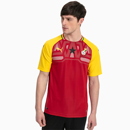 Ghana Men's Home Replica Jersey, Chili Pepper-Dandelion, small