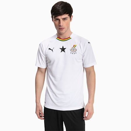 Ghana Men's Away Replica Jersey, Puma White, small
