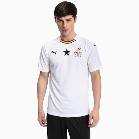 Meska replika koszulki wyjazdowej reprezentacji Ghany, Puma White, small