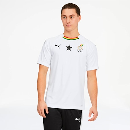 Ghana Away Replica Jersey, Puma White, small