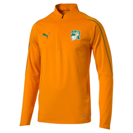 Ivory Coast 1/4 Zip Training Top, Flame Orange, small