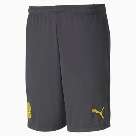 BVB Men's Training Shorts, Asphalt-Cyber Yellow, small