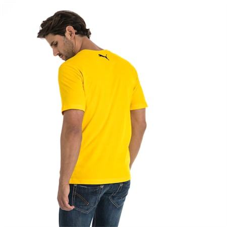 BVB Men's Shoe Tag T-Shirt, Cyber Yellow, small-IND