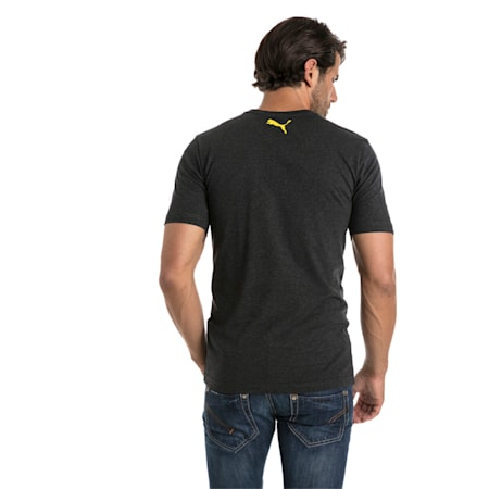 BVB Men's Shoe Tag T-Shirt, Dark Gray Heather, small-IND
