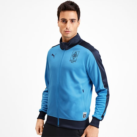 Borussia Mönchengladbach Men's T7 Track Jacket, Team Light Blue-Peacoat, small