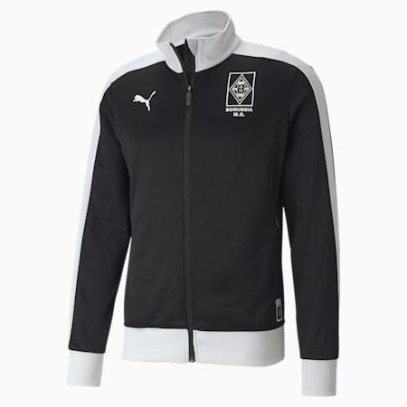 Borussia Mönchengladbach Men's T7 Track Jacket, Puma Black-Puma White, small
