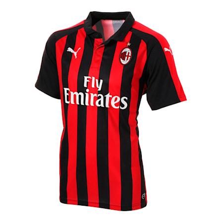 AC MILAN SS ホーム レプリカシャツ 半袖, Tango Red-Puma Black, small-JPN