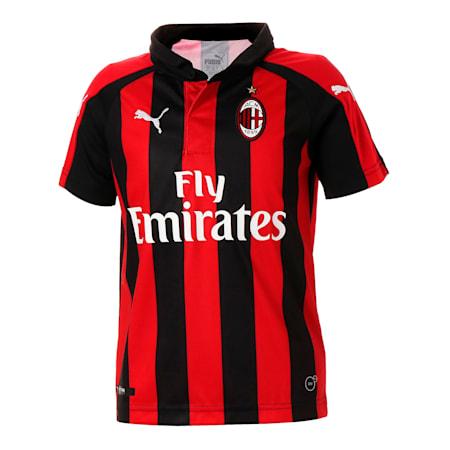 キッズ AC MILAN SS ホーム レプリカシャツ, Tango Red-Puma Black, small-JPN