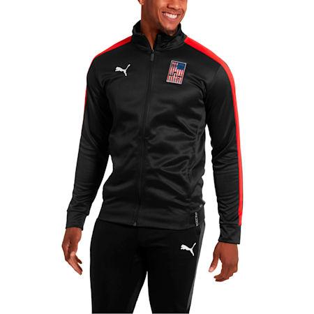 Copa America Men's T7 Track Jacket, Puma Black-Puma Red, small