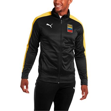 Copa America Men's T7 Track Jacket, Puma Black-Dandelion, small