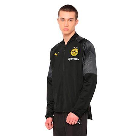 BVB Stadium Jacket, Puma Black, small-IND