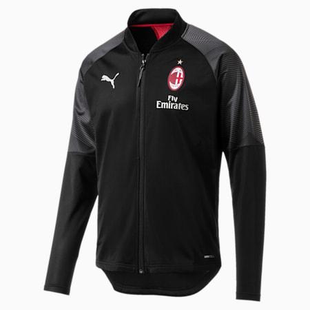 AC Milan Stadium Men's Jacket, Puma Black-Tango Red, small-SEA