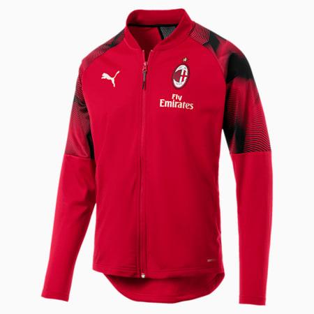 AC Milan Stadium Men's Jacket, Tango Red-Puma Black, small-SEA