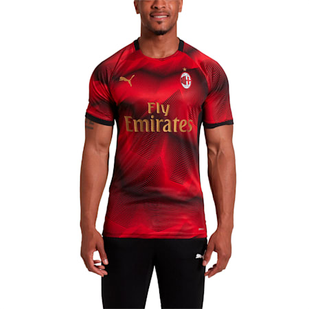 Camiseta AC Milan Stadium, Puma Black-Dark Shadow, pequeño