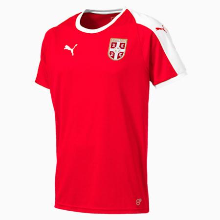 Serbia Home Shirt, Puma Red-Puma White, small