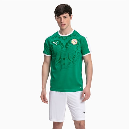 Senegal Men's Away Replica Jersey, Pepper Green-Puma White, small
