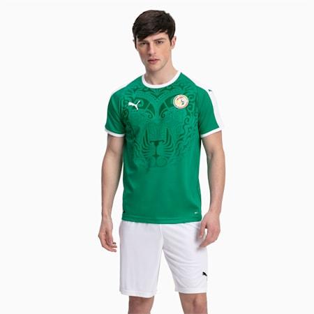 Senegal Men's Away Replica Jersey, Pepper Green-Puma White, small