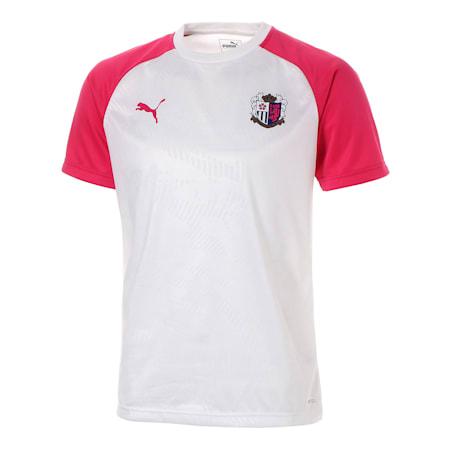 セレッソ 19 ハンソデ トレーニング シャツ, Puma White-CR Pink, small-JPN