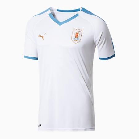 Uruguay Men's Away Replica Jersey, Puma White, small