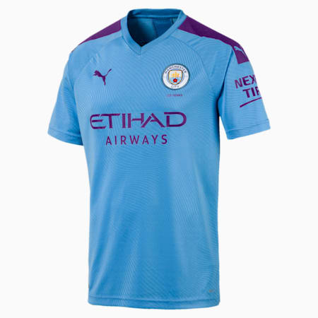 Man City Men's Home Replica Jersey, TeamLightBlue-TillandsiaPurp, small