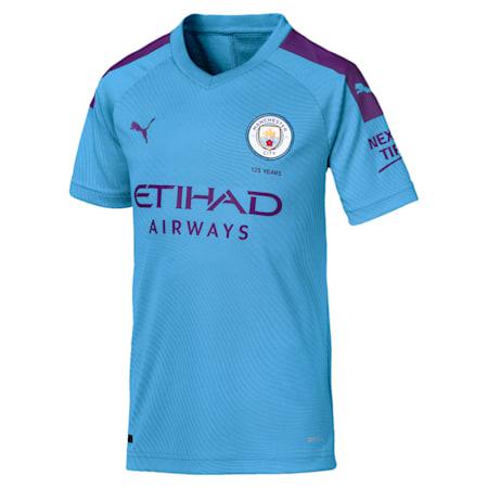 Manchester City Short Sleeve dryCELL Kids' Home Replica Jersey, TeamLightBlue-TillandsiaPurp, small-IND