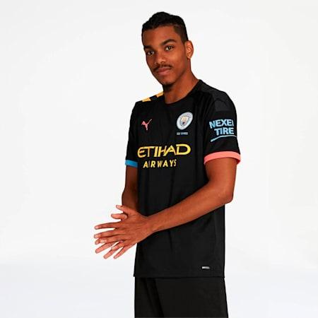 Manchester City Away Replica Jersey, Puma Black-Georgia Peach, small