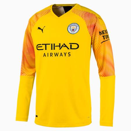 Man City Men's Replica Goalkeeper Jersey, Cyber Yellow-Puma Black, small