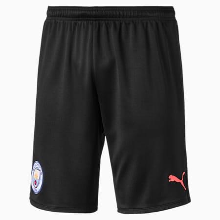 Man City Men's Replica Shorts, Puma Black-Georgia Peach, small
