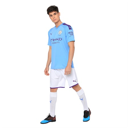 Manchester City dryCELL Men's Third Replica Shorts, Puma White-Tillandsia Purple, small-IND