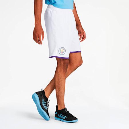 Manchester City Men's Third Replica Shorts, Puma White-Tillandsia Purple, small
