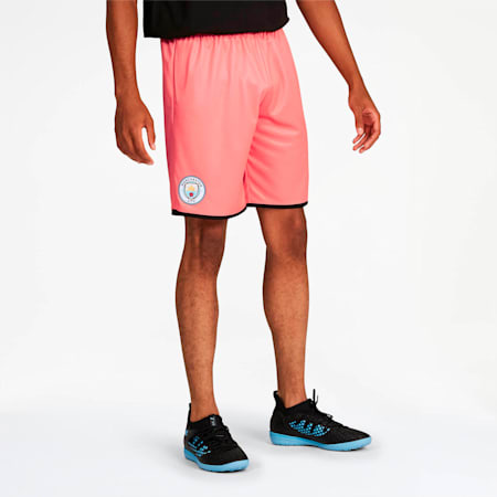 Manchester City Men's Third Replica Shorts, Georgia Peach-Puma Black, small