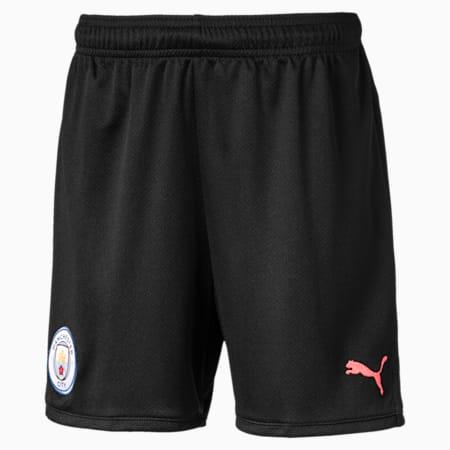 Manchester City FC Kids' Replica Shorts, Puma Black-Georgia Peach, small